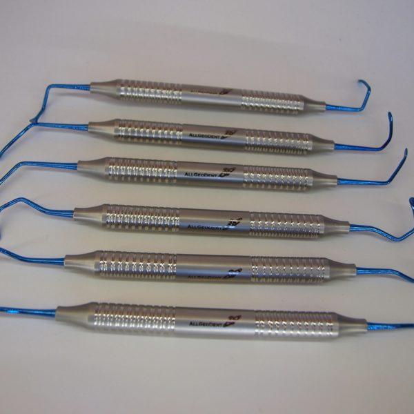 Набор Кюрет для синус-лифтинга, 6 штук (Титан) / Set of Sinus lift curettes, 6 PCs (Titanium)
