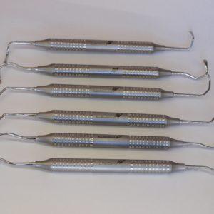Набор Кюрет для синус-лифтинга, 6 штук / Set of Sinus lift curettes, 6 PCs